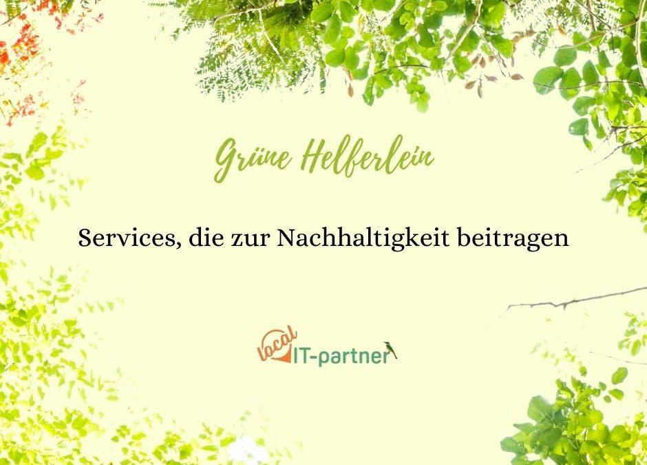 Grüne Helferlein: Services die dir helfen, dein Unternehmen nachhaltiger zu führen